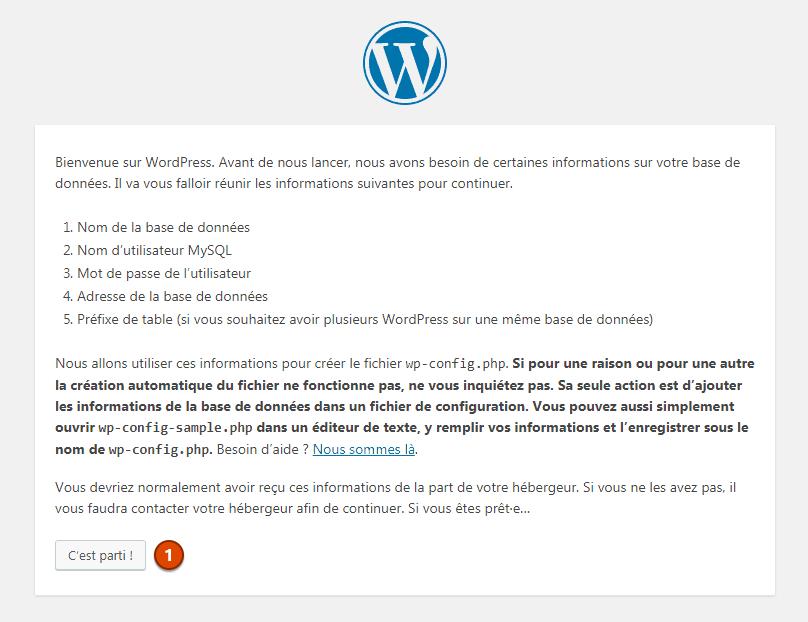Wordpress configuration 1
